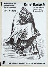 """Ernst Barlach 1870-1938 / Plakat zur Ausstellung 1992 Ulm """"Der arme Vetter..."""""""