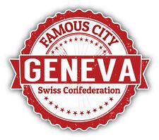 """Geneva Switzerland Grunge Travel Stamp Car Bumper Sticker Decal 5"""" x 4"""""""
