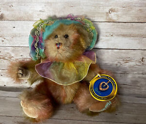 Harlow Bear Pickford Prosperity Brass Button Pendant Emerald Bear 10'' Plush