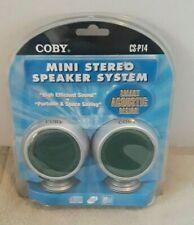 Coby CS-P14 Mini Stereo Speaker System NEW