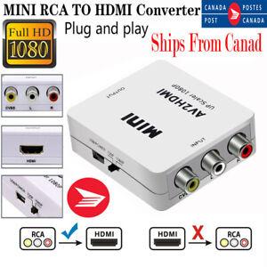 RCA to HDMI Adapter Converter Video Audio Composite AV For 720p 1080p Upscaler