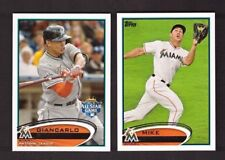 2012 Topps  FLORIDA MIAMI MARLINS Team Set w/ Updates 30 Cards Mint