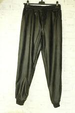 Italy New Hose Leder Jogger Jeans Boyfriend Gr. 38/40 schwarz blogger Kunstleder