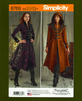 Misses Costume Coat Sewing Pattern~2 Variations! (Sizes 14-22) Simplicity 8769