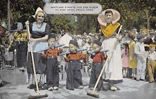 Pella Iowa 1940s Postcard Spotless Streets For The Queen To Ride in Parade