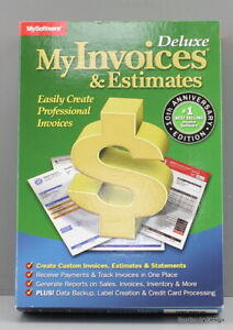 *NEW SEALED* My Invoices and Estimates Deluxe 110-10060-3