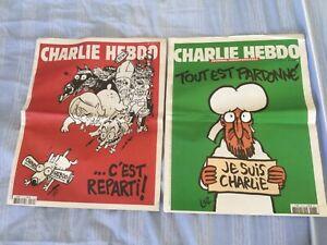 """CHARLIE HEBDO  COLLECTOR 1179 """"...C'EST REPARTI et  1178 Tout est pardonné"""