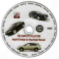 IMPORT & FOREIGN CAR SHOP REPAIR MANUALS ON DVD - OPEL ALFA ROMEO AUSTIN-HEALEY
