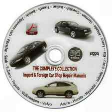 IMPORT & FOREIGN CAR SHOP REPAIR MANUALS ON DVD - JAGUAR MG PEUGEOT RENAULT