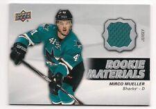 Mirco Mueller 14-15 Upper Deck 2 Rookie Materials Game Jersey