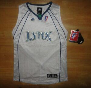 MINNESOTA LYNX White ADIDAS WNBA Team Jersey - Youth Large L 14-16 *NEW W/ TAGS*