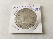 5 F en argent Louis Philippe 1er 1834 H -