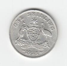 1935 KGV AUSTRALIAN SHILLING (92.5% SILVER) - VERY NICE LOW MINTAGE COIN
