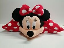 Minnie Mouse Plush Pillow Pet Disney Authentic Red White Polka Dots 20""