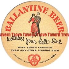 "NJ-BAL-216 1950s New Jersey Ballantine Beer ""Watches Your Belt-Line"" 3½"" Diet"