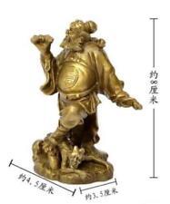 collection de statues de laiton chinois du sacré Zhong Kui 4.5x3.5x8 CM