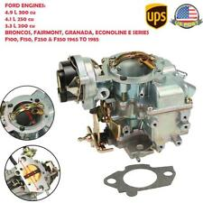 Carter YFA 1barrel Carburetor For Ford F100 F150 F250 F350 65-85 Electric Choke