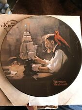 """Knowles Norman Rockwell """"The Ship Builder"""" Collector Plate with Coa"""