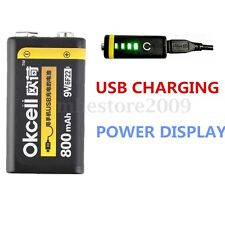 9V 800mAh Lipo Battery USB Rechargeable For RC Helicopter Model Microphone Toy