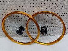 "20"" Old School Style Bmx Wheel Set Gold/Black (Intense GT  Dyno Haro CW Hutch)"