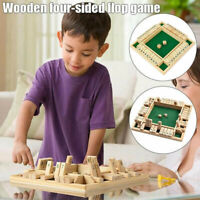 Wood Number Game Toy Four-Sided Flip Card Digital Board Parent-Child Table Game·