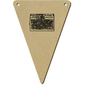 5 x 140mm 'Wooden Chest' Wooden Bunting Flags (BN00018412)