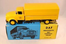 Lion Car 32 DAF 1600 Torpedo Truck 1957 Yellow scale 1:50 perfect mint in box