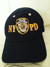 NYPD New York Police Department Black Baseball Hat One Size Fits All Strap  Back d6a18634622d