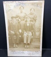 Vintage Cabinet Card Family Group