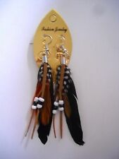 Womens Fashion Jewelry Bohemia Style Feather Earrings