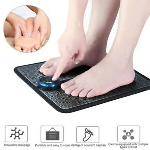 EMS Leg Reshaping Foot Massager Mat Pad Blood Muscle Circulation Relief Pain UK