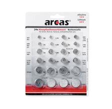 Uhrenbatterien Knopfzellen Sortiment A83 24 Stück Paket Batterien Gemischt Set