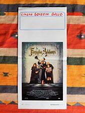Locandina LA FAMIGLIA ADDAMS 1'Edizione 1991 The Addams Family Poster Affiche