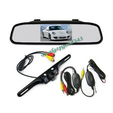 "Wireless 7 LED Reversing Camera Car Rear View Kit + 4.3"" LCD Mirror Monitor AU"