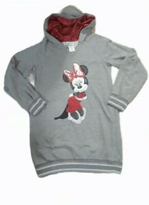 Walt Disney World Park YOUTH XL Sweatshirt Tunic Hooded Minnie Satin Sparkles Gr