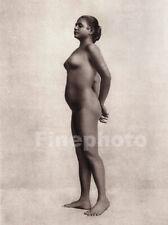 1925 Original Vintage Proud Female Nude Woman Ceylon Sri Lanka Photo Gravure Art