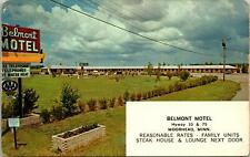Moorhead MN Belmont Hotel Postcard unused 1960s