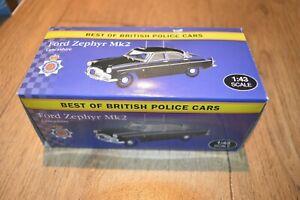 Atlas Ford Zephyr MK2 Lancashire Police 1/43 Scale