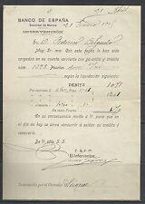 B45-DOCUMENTO ANTIGUO BANCO ESPAÑA MURCIA 1905