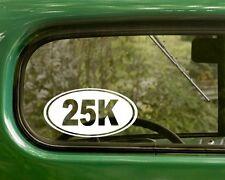 25k Marathon Decal Sticker Running 2 Ovals Vinyl Die Cut, Car, Laptop