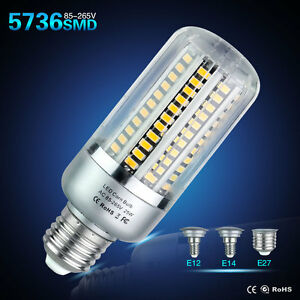 E27 E14 E12 Led  Light  Bulb 5736SMD 5/10/15/20/25W Corn Lamps AC110V/220V
