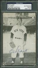 Ed Lopat Vintage Signed Autographed 3x5 Post Card PSA/DNA