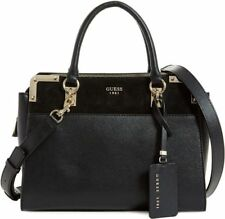 GUESS $118 Tepper Status Satchel carryall Tote Handbag Black