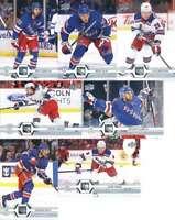 2019-20 Upper Deck Series 2 New York Rangers Team Set of 7 Cards: Artemi Panarin