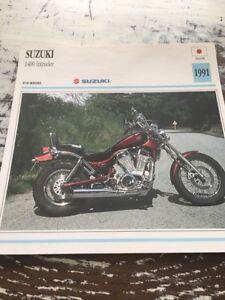 Suzuki 1400 Intruder 1991 Tarjeta Moto Colección Atlas Japón