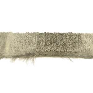 Rabbit Fur Trim Stripping - Chinchila Grey