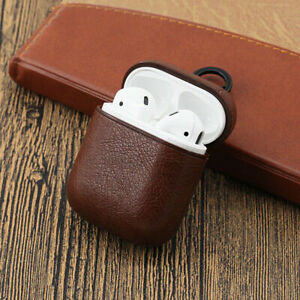 Protective PU Leather Hard Cover Case Compatible for Apple AirPods 1 2 Earpods