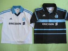 Lot 2 maillot OM Ericsson Adidas Vintage Enfant Olympique Marseille - 14 ans