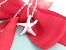 Tiffany & Co Silver Peretti Starfish Pendant Charm Necklace Packaging