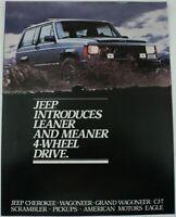 1984 Jeep Cherokee Wagoneer CJ7 Pickups AMC Eagle ORIGINAL Dealer Sales Brochure